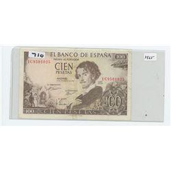 1965 SPAIN 100 PESOS