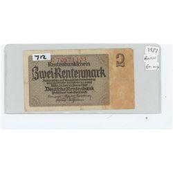 1937 GERMAN NOTE