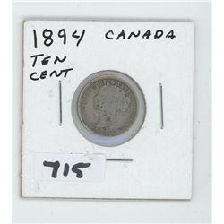 1894- CANADIAN TEN CENTS