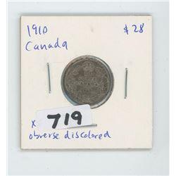 1910- CANADIAN TEN CENTS