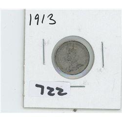 1913- CANADIAN TEN CENTS