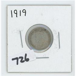 1919- CANADIAN TEN CENTS