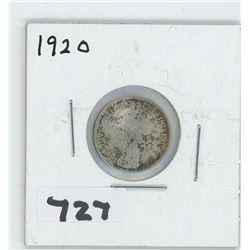 1920- CANADIAN TEN CENTS
