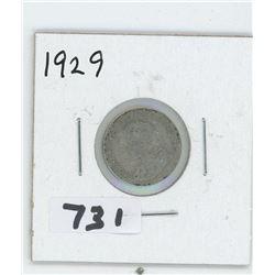 1929- CANADIAN TEN CENTS