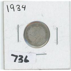 1934- CANADIAN TEN CENTS