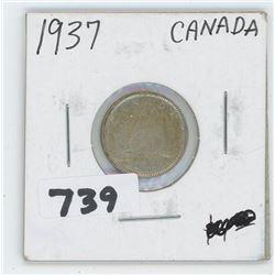 1937- CANADIAN TEN CENTS