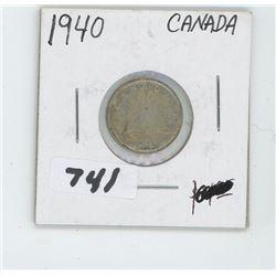 1940- CANADIAN TEN CENTS