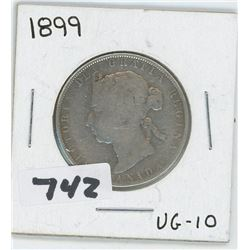 1899- CANADIAN FIFTY CENTS