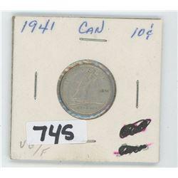 1941- CANADIAN TEN CENTS