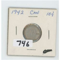 1942- CANADIAN TEN CENTS