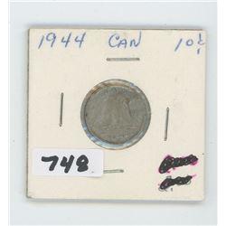 1944- CANADIAN TEN CENTS