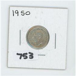 1950- CANADIAN TEN CENTS