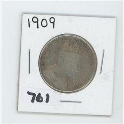 1909 CANADIAN 50 CENTS