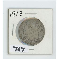 1918 CANADIAN 50 CENTS