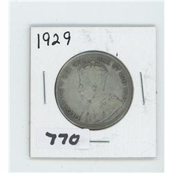 1929 CANADIAN 50 CENTS