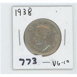 1938 CANADIAN 50 CENTS
