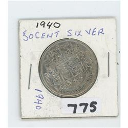 1940 CANADIAN 50 CENTS