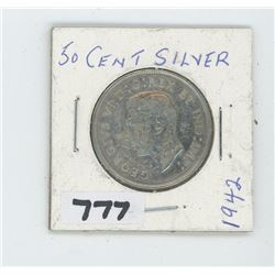 1942 CANADIAN 50 CENTS