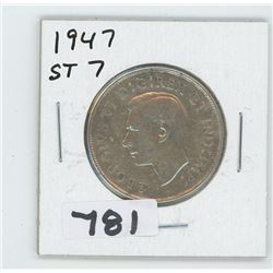 1947 ST-7 CANADIAN 50 CENTS