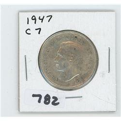 1947 C7 CANADIAN 50 CENTS