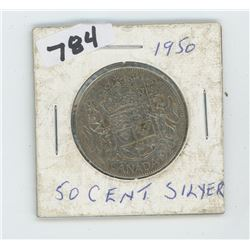 1950 CANADIAN 50 CENTS