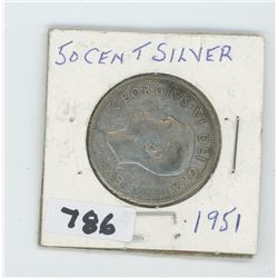 1951 CANADIAN 50 CENTS
