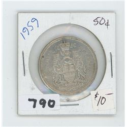 1959 CANADIAN 50 CENTS