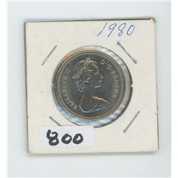 1980 CANADIAN 50 CENTS
