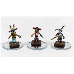 Set of 3 Micro Miniature Kachinas