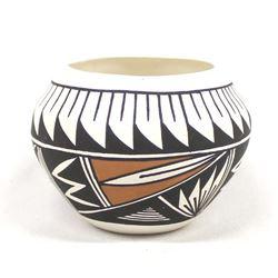 Acoma Hand Painted Ceramic Pottery Jar, Victorino