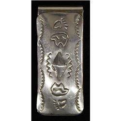 Native American Navajo Sterling Money Clip