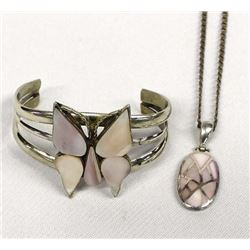 Sterling Silver & Pink Mother of Pearl Jewelry