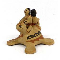 Jemez Pottery Turtle Storyteller by F. Fragua
