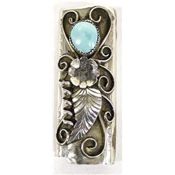 Navajo Sterling Turquoise Lighter Cover