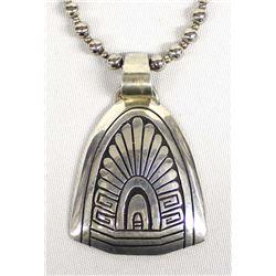 Navajo Sterling Silver Pendant Necklace, Padilla