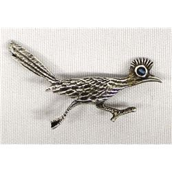 Route 66 Sterling Turquoise Roadrunner Pin