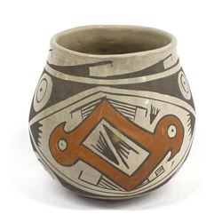 Vintage 1970s Mexican INAH Pottery Jar