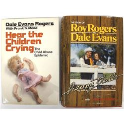 2 Dale Evans and Roy Rogers Hardback Books