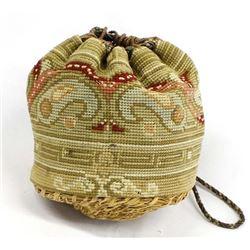 Native American Tohono O'odham Basket Purse