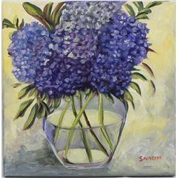 Original Oil Painting ''Hydrangeas'' by Savarese