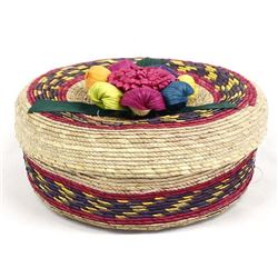 Colorful Mexican Lidded Basket