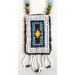 Beaded Pendant Necklace by Kathy Kills Thunder