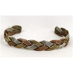 Navajo Silver and Copper Cuff Bracelet