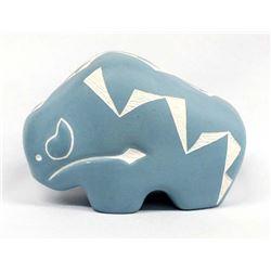 Acoma Carved Ceramic Buffalo Pottery
