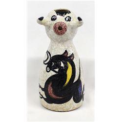1960 Sanguino Toledo Pottery Picasso Bull Pitcher