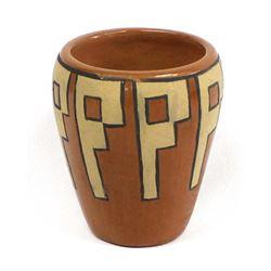 Santa Clara Cylindrical Pottery Jar by Gutierrez