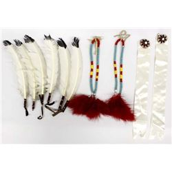 Collection of Native American Hair Ties