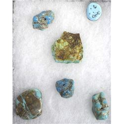 Natural Turquoise Beads, Cabochons, and Slab