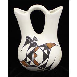 Acoma Hand Painted Ceramic Wedding Vase