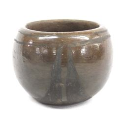 Historic Santa Domingo Pottery Jar by E. Crespin